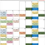 スタジオインプルーブ-10月レギュラーレッスン予定